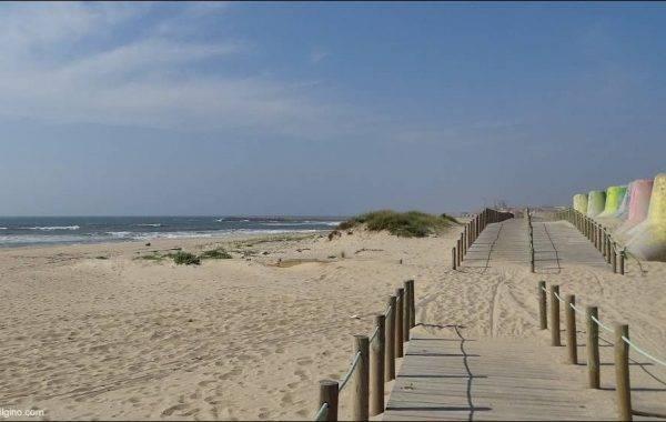 Am Strand entlang Richtung Espinho