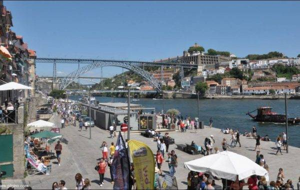 Leben am Fluss in Porto