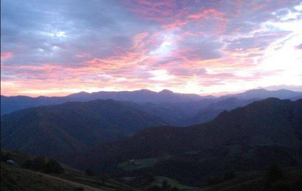 Abendhimmel in den Pyrenäen