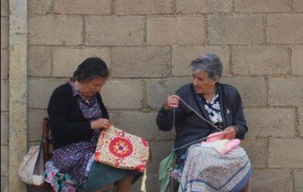 Dorfszene in Calzadilla de los Hermanillos