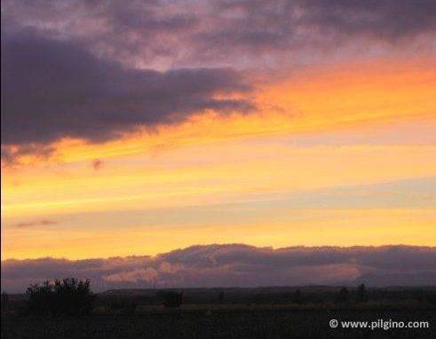 Sonnenuntergang bei Mansilla de las Mulas
