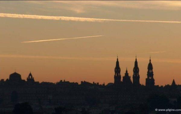 Blick auf die Kathedrale von Santiago