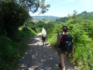 Zwei Pilger auf dem Weg nach Santiago