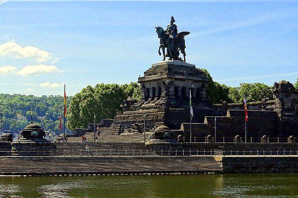 Deutsches Eck mit Denkmal für Kaiser Wilhelm I