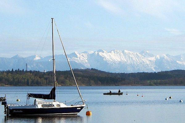 Starnberger See mit Alpenblick
