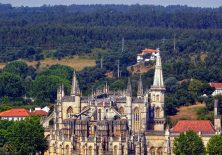 Klosterkirche Batalha vom Jakobsweg Richtung Fátima fotografiert