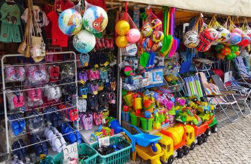 Praia de Mira: Strandartikel für die Urlauber