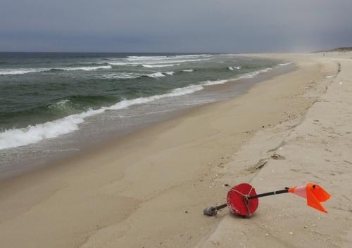 Allerlei Strandgut. Hier eine Fischerboje