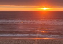 Sonnenuntergang am Strand von Furadouro