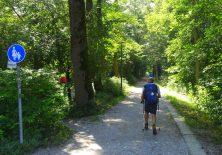 Pilgern auf Spazierwegen im Wald