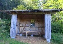 Schutzhütte für plötzliche Unwetter